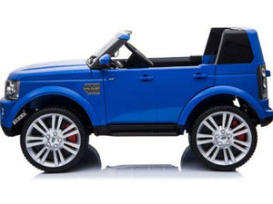 Mini Moto Land Rover Discovery 12v Ride-on truck blue