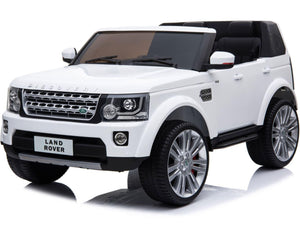 Mini Moto Land Rover Discovery 12v Ride-on truck white