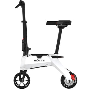 Motini Nano 36v 250w Lithium Electric Scooter-White-Ride and Go Electrics