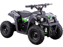 Load image into Gallery viewer, MotoTec 36v 500w Kids ATV Monster v6 Blue-Black-MT-ATV6_Black-Ride and Go Electrics