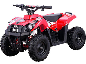 MotoTec 36v 500w Kids ATV Monster v6 Blue--Ride and Go Electrics