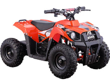 Load image into Gallery viewer, MotoTec 36v 500w Kids ATV Monster v6 Blue-Orange-MT-ATV6_Orange-Ride and Go Electrics