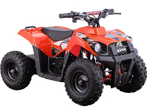 MotoTec 36v 500w Kids ATV Monster v6 Blue-Orange-MT-ATV6_Orange-Ride and Go Electrics