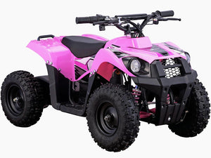 MotoTec 36v 500w Kids ATV Monster v6 Blue-Pink-MT-ATV6_Pink-Ride and Go Electrics
