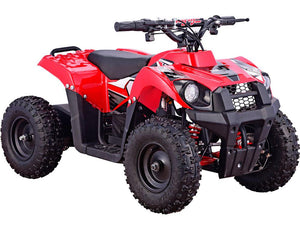 MotoTec 36v 500w Kids ATV Monster v6 Blue-Red-MT-ATV6_Red-Ride and Go Electrics
