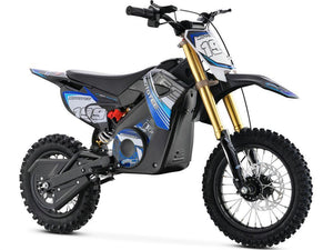 MotoTec 36v Pro Electric Dirt Bike 1000w Lithium-Blue-Ride and Go Electrics