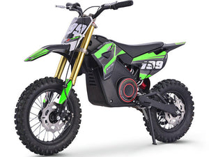 MotoTec 36v Pro Electric Dirt Bike 1000w Lithium-Green-Ride and Go Electrics