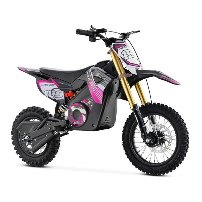 MotoTec 36v Pro Electric Dirt Bike 1000w Lithium-Pink-Ride and Go Electrics