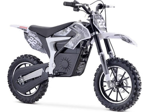 MotoTec Demon Kids Electric Dirt Bike 36v 500w-White-MT-Dirt-Lithium_White-Ride and Go Electrics