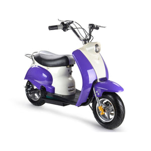 MotoTec Electric Moped Purple 24v-Ride and Go Electrics