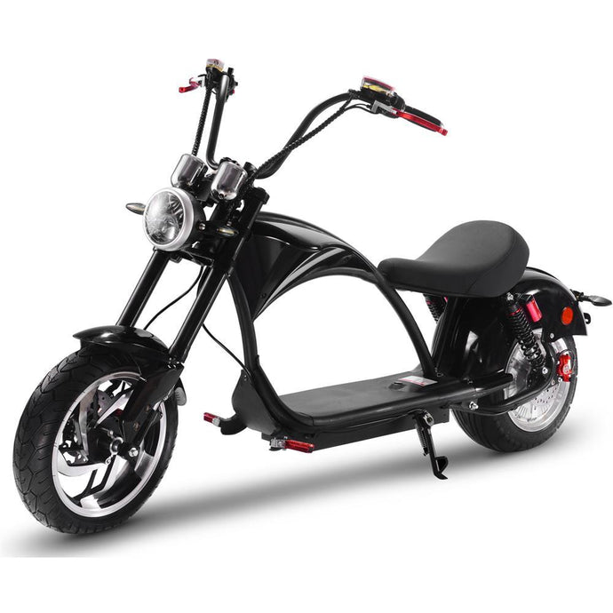MotoTec Lowboy 60v 20ah 2500w Lithium Electric Scooter-MT-LowBoy-60v-2500w_Black-Ride and Go Electrics