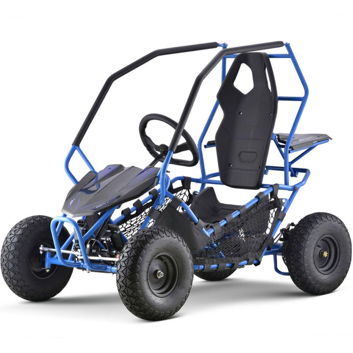 MotoTec Go Kart Maverick 1000w-Blue-Ride and Go Electrics