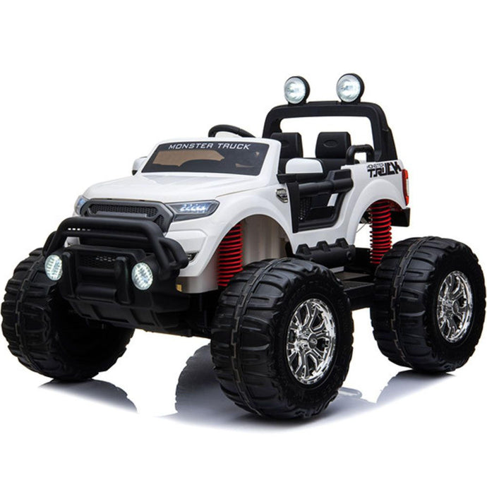 MotoTec Monster Truck 4x4 12v Ride-on Toy white