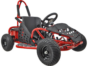MotoTec Off Road Go Kart 48v 1000w-Red-Ride and Go Electrics