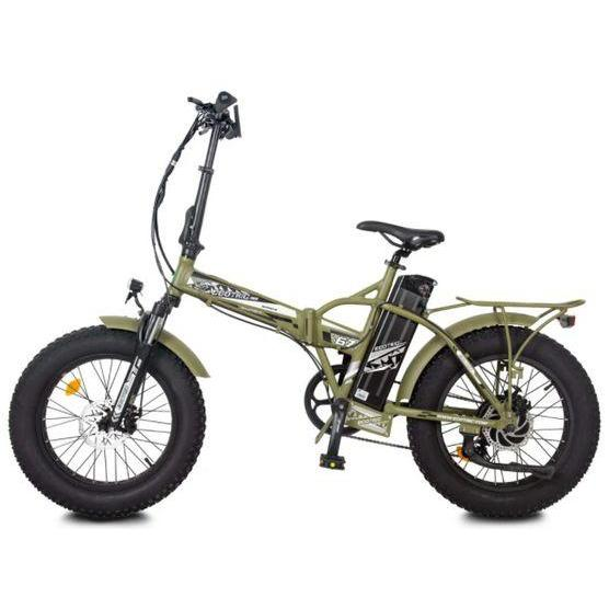 New Ecotric 48V 500W Fat Tire Folding Electric Bike (matte green)