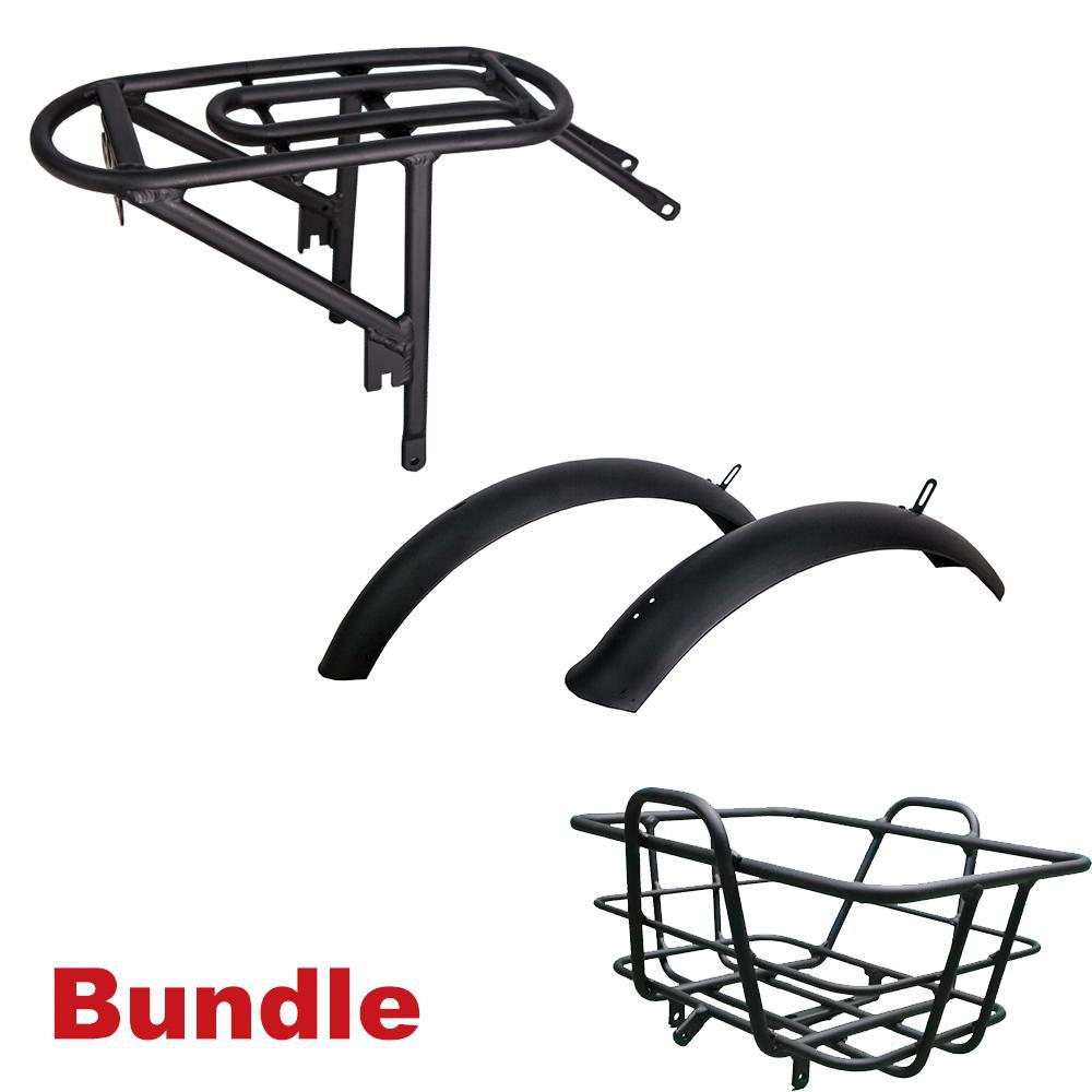 REVI Bikes Front Basket Rack and Fender Bundle for Rebel Bike-Rebi-Basket-Reb-Ride and Go Electrics
