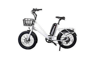 Revi Bikes Runabout 500W Fat Tire Electric Bike (pearl white)