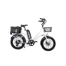 Load image into Gallery viewer, Revi Bikes Runabout 500W Fat Tire Electric Bike (pearl white)