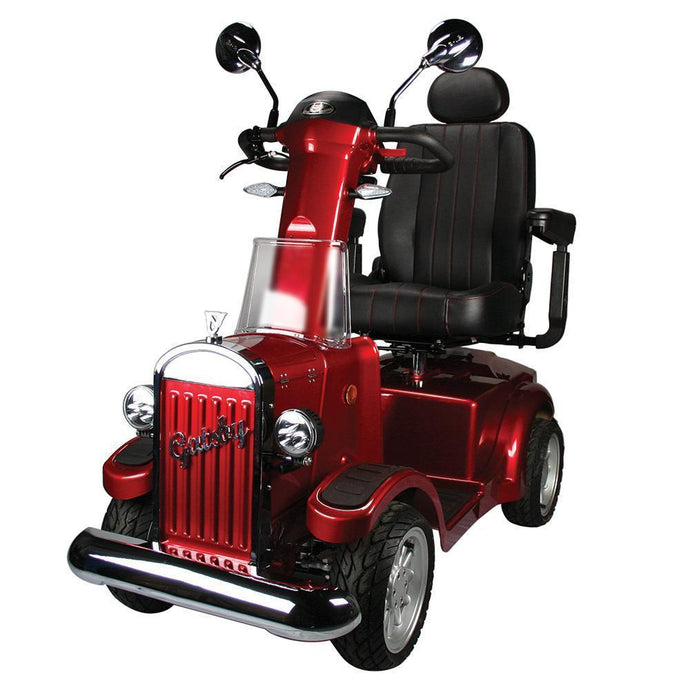 Vintage Vehicles USA Gatsby 4 Wheel Luxury Scooter-Red-Gatsby-Red-Ride and Go Electrics