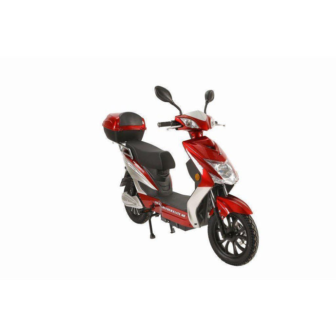 X-Treme Cabo Cruiser Elite 48V Electric Moped Scooter-Burgundy - Early-Mid Sept.-CABO-E-48-Burgundy-Ride and Go Electrics