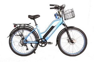X-Treme Catalina 48 Volt Step-Through Electric Beach Cruiser Bike