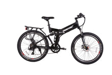 Load image into Gallery viewer, X-Treme X-Cursion Elite 24V Full-Suspension Folding Electric Mountain Bike (black)