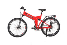 Load image into Gallery viewer, X-Treme X-Cursion Elite 24V Full-Suspension Folding Electric Mountain Bike (red)