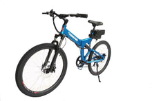 Load image into Gallery viewer, X-Treme XC-36 Electric Folding Mountain Bicycle (metallic blue)