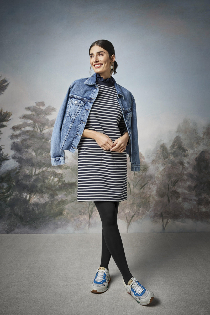 Rich & Royal - Striped dress with frilled collar - campaign image