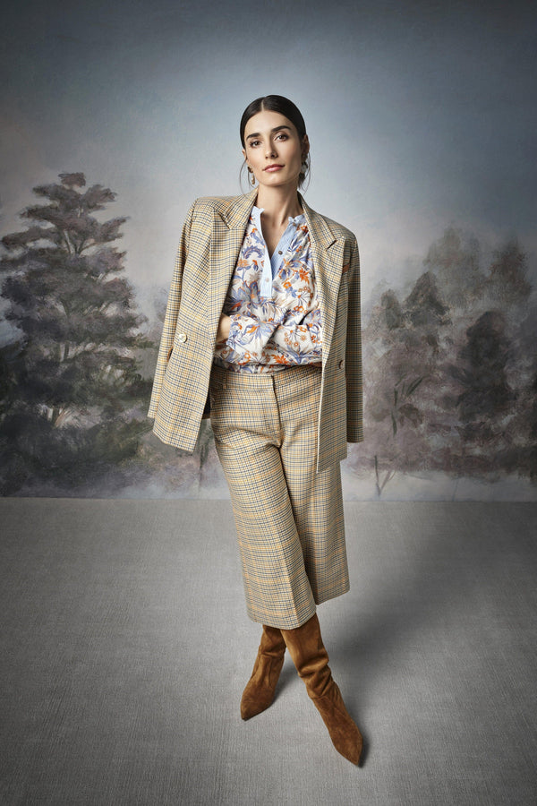 Rich & Royal - Checked suit-style culottes - campaign image