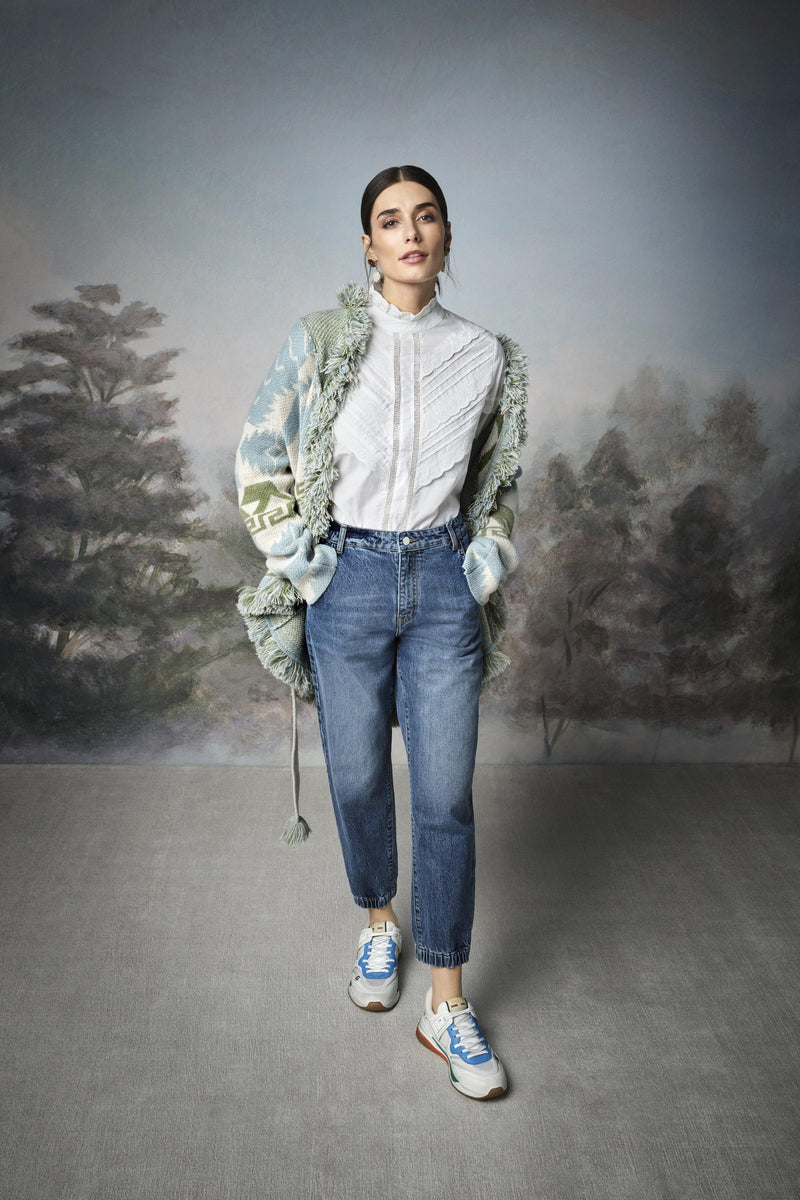 Rich & Royal - Denim jogger-style trousers - campaign image