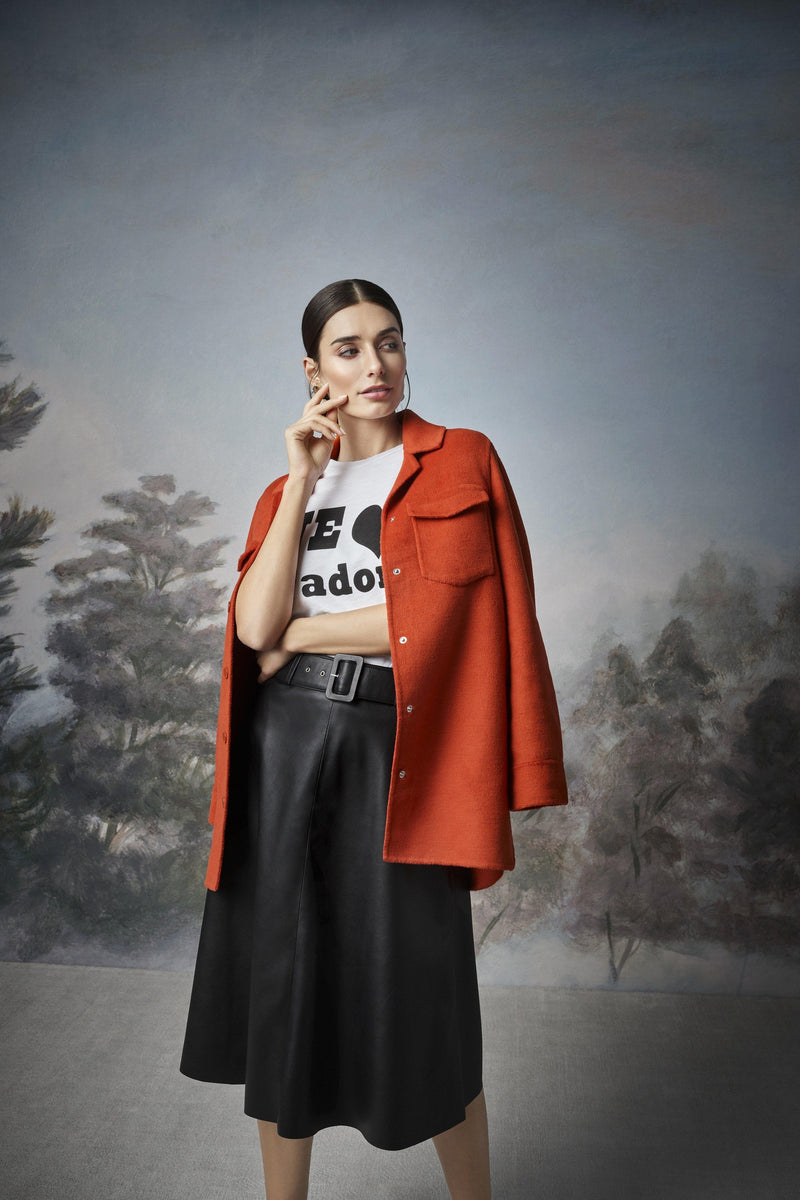 Rich & Royal - Vegan leather skirt - campaign image