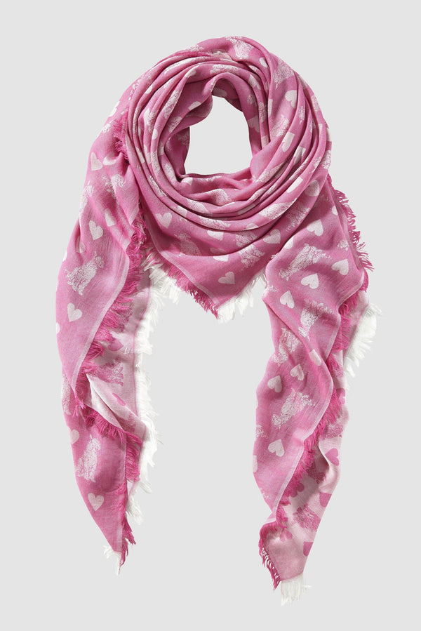 Woven jacquard scarf with animal print