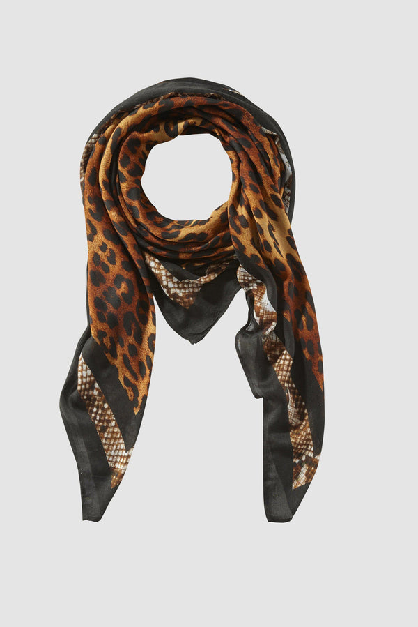 Scarf in on-trend mix of animal prints