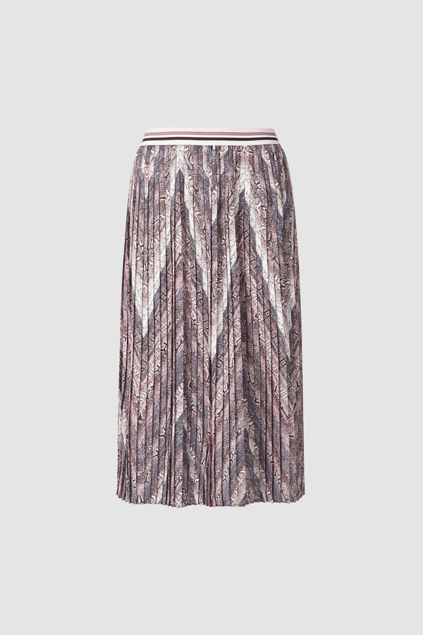 Pleated skirt in reptile design
