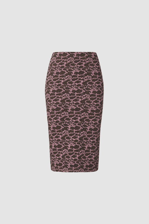 Sheath skirt with imaginative print
