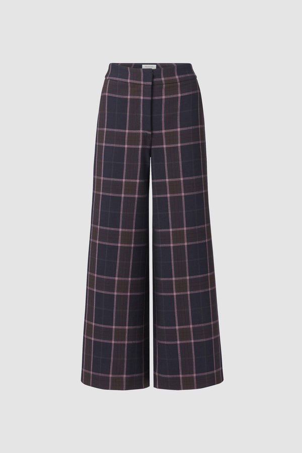 Culottes in checked fabric