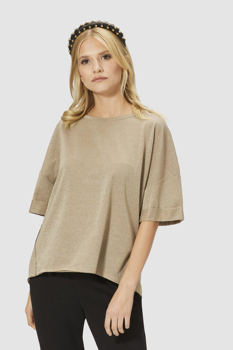 Lurex T-shirt in boxy cut