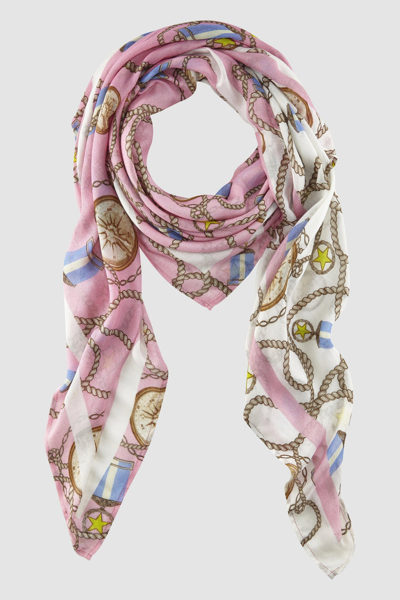 Scarf with maritime print