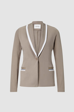 Jersey blazer with contrast effect