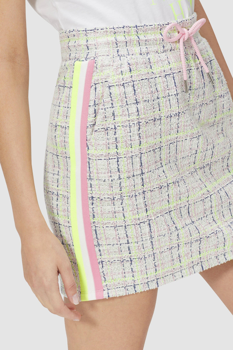 Jacquard skirt with tape