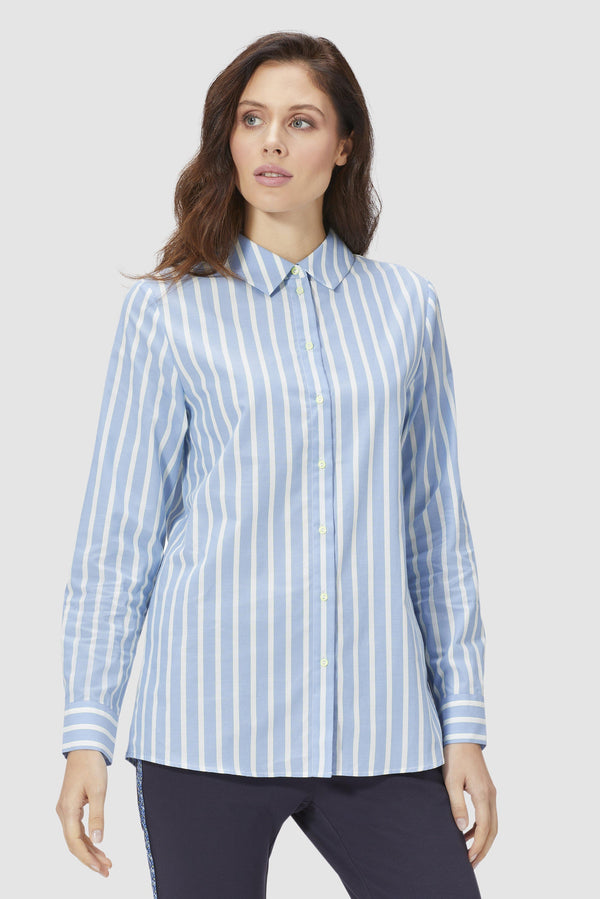 Striped shirt-blouse