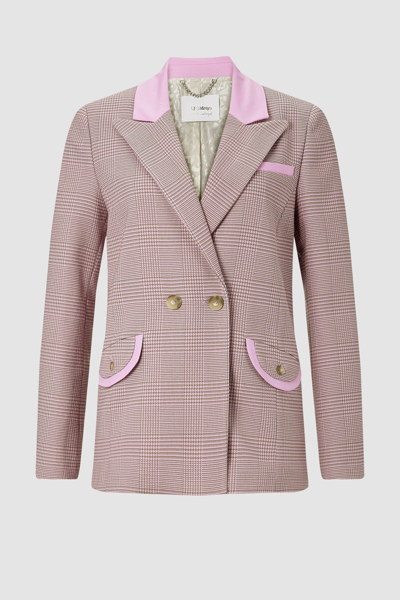 Blazer with flap pockets