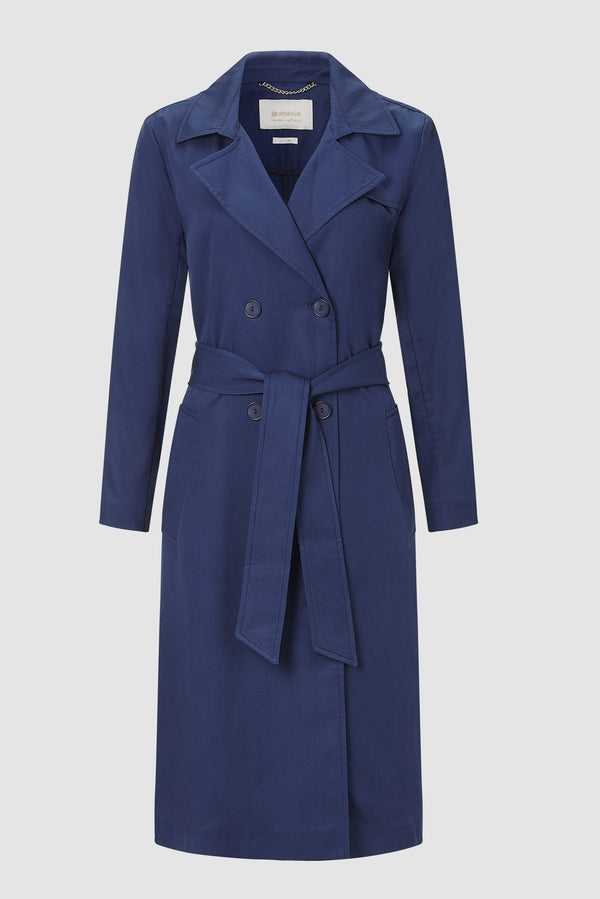 Trench coat with tie belt
