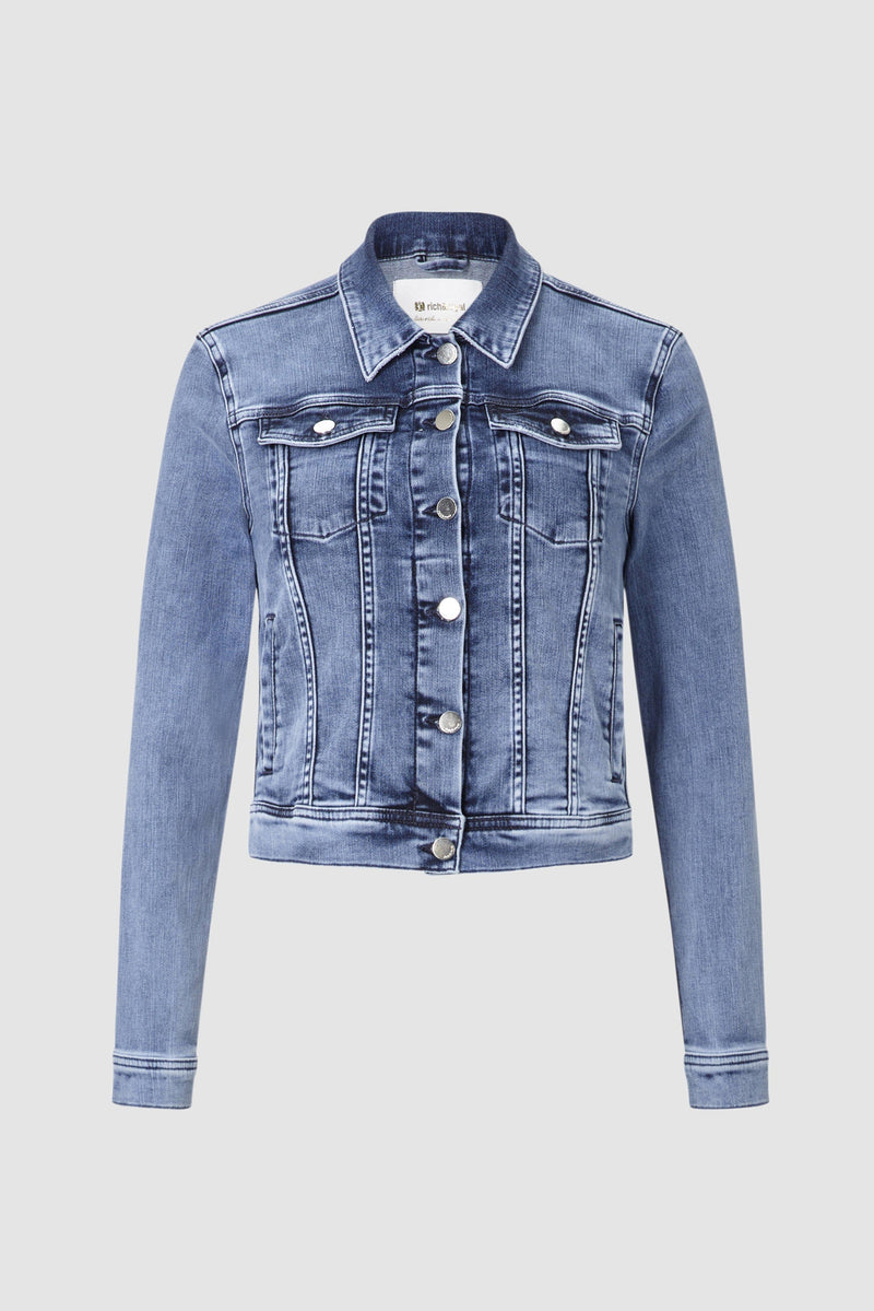 Athleisure-style denim jacket