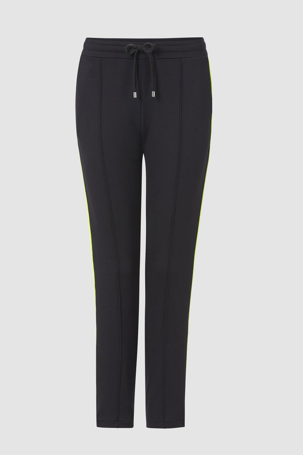 Refined jogger-style trousers with pre-pressed creases