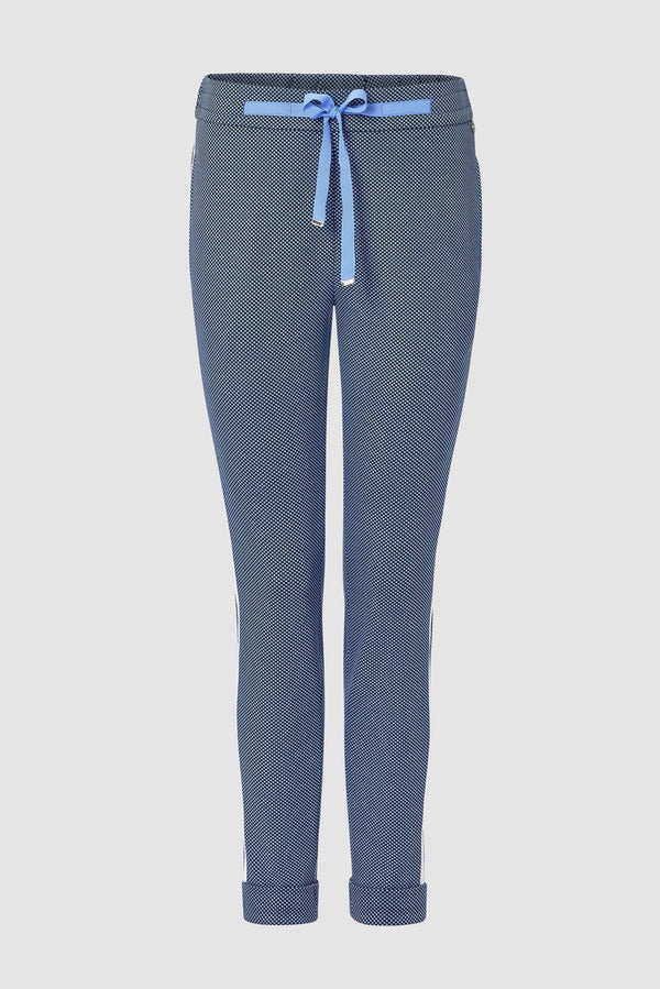 Athleisure-style trousers with turn-ups