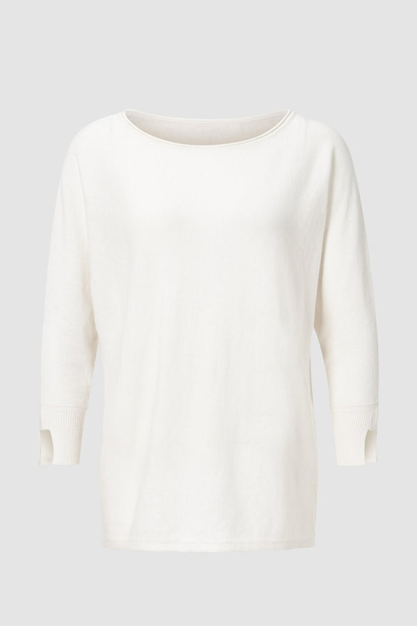 Boxy jumper with cashmere