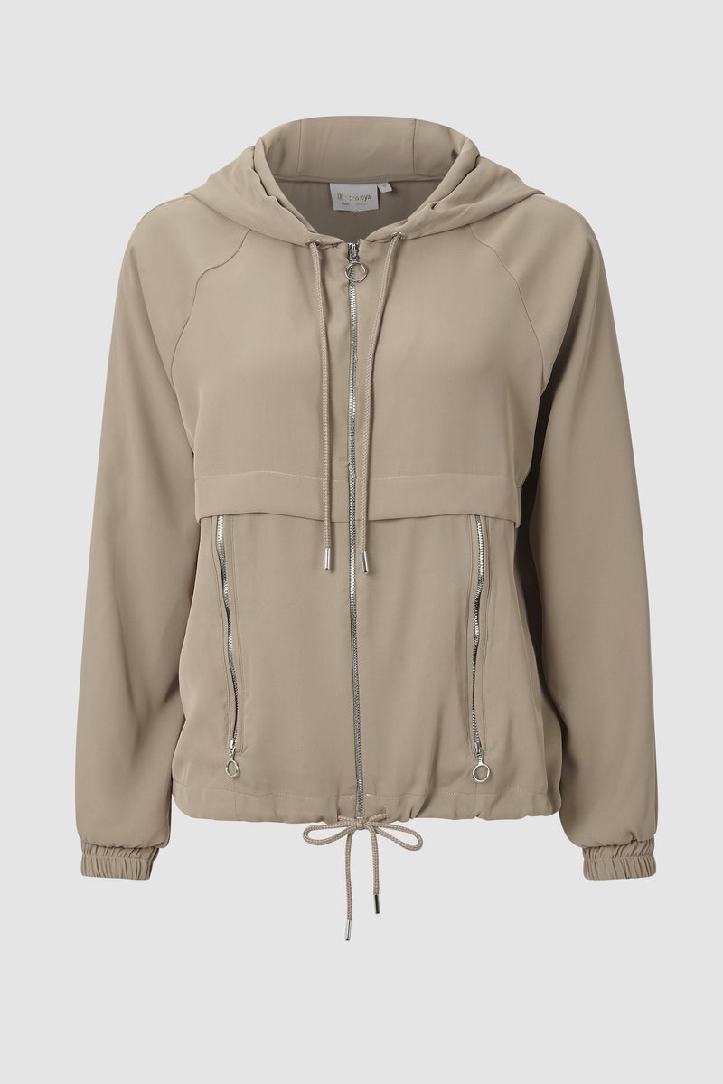 Smooth hooded jacket