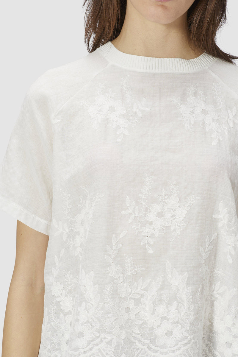 Lightweight embroidered top